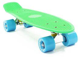 """Скейтборд (Пенниборд) PWS Classic 22"""" зеленый/синий"""