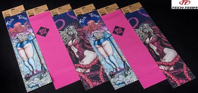 Шкурка (наклейка на деку) для самоката (скейтборда), универсальная, Pink (NN007769)