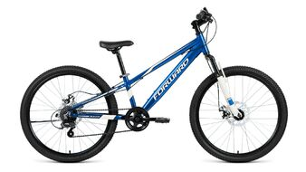 Велосипед FORWARD RISE 24 2.0 disc 2018-2019 (синий/белый)