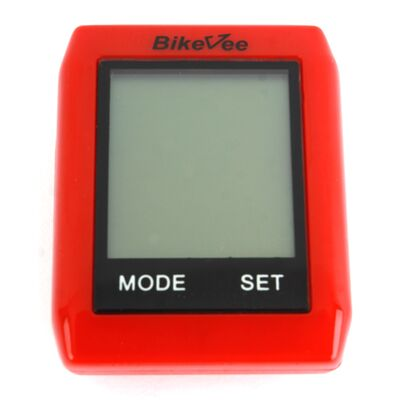 Велокомпьютер, беспроводной, BKV- 6000, 10 функций, сенсорный, BikeVee (красный, 1CM000000021) #0