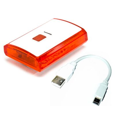 Фонарь задний, XC-142, USB кабель, 3 светодиода, Jokie (RLEXC1420001) #0