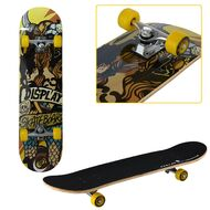 "Скейтборд RGX Display 31""x8"", подвеска 5 ALU, клён 9 слоёв, LG-302 (черный/желтый)"