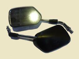 зеркала заднего вида черное ромб 10мм (пара) АLPHA