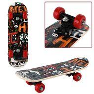 """Скейтборд RGX Small 17""""x5"""", подвеска 5 ALU, клён 9 слоёв, SMALL-8 (красный/мультиколор)"""