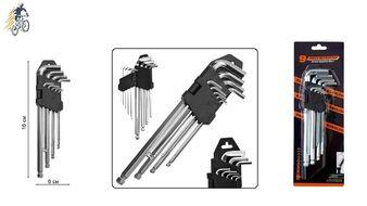 Набор инструментов: ключи шестигранные, 9 предм. (1.5/2/2.5/3/4/5/6/8/10 мм), 16 см, пластиковый держатель, на блистере, Q-TOOLS