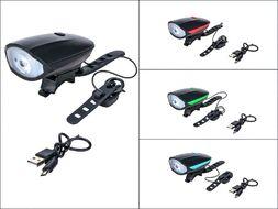 Фара передняя, с сигналом, USB, встр. аккумулятор, CREE LED, 250lm/140db, 3 функц., влагозащита (черный, FWD3265111)