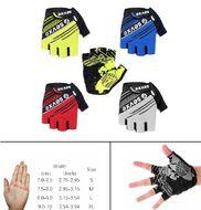 """Велоперчатки """"Seven X"""", короткие пальцы, антискользящие, биэластичные, силикон, лайкра, размер """"M"""" (желтый/черный, SEVXE7KP1-M)"""