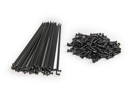 Спица 268 мм x 14G с ниппелем (12 мм) стальная черная (УТ00020256)