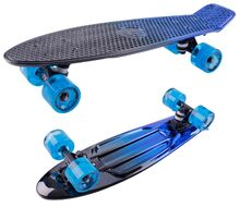 Скейтборд Metallic 22 blue ударопрочный полипропилен (NN004179)