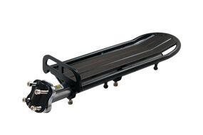 """Багажник консольный, алюминиевый, 24""""-29"""", регулируемый по длине, на подседельный штырь (черный)"""