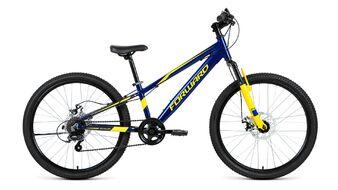 Велосипед FORWARD RISE 24 2.0 disc 2018-2019 (синий/желтый)