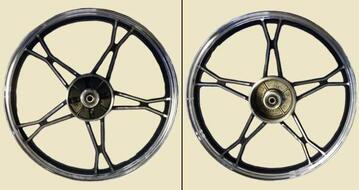 диск колесный задний литой серебристый DELTA, ALPHA