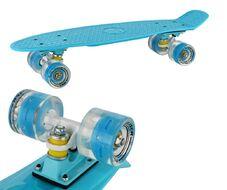 "Скейтборд (Пенниборд) RGX 22"" (светящиеся колеса), подвеска - Alu, ABEC-7 (синий)"
