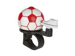 Звонок велосипедный, алюминиевый D40 мм, футбольный мяч (красный)