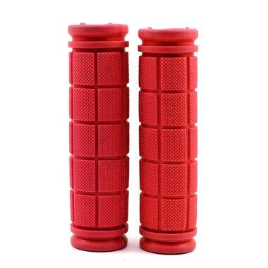 Рукоятки руля (грипсы, комплект), 120мм, резиновые, Joykie (красный) #0