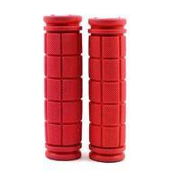 Рукоятки руля (грипсы, комплект), 120мм, резиновые, Joykie (красный)