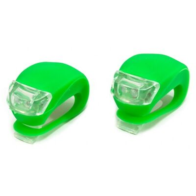 Фара XC-108 Пластик/силикон комплект 2 светодиода, 3 режима работы XINGCHENG (зеленый) #0