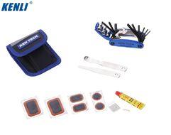 Набор инструментов KENLI в сумке: набор шестигранников (15 предм.), аптечка, монтажки, заплатки, клей, KL-9809B (NN005500)