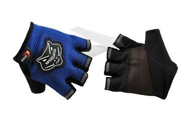 Велоперчатки KNIGHTOOD, кор.пальцы, биэластичные, лайкра, антискользящие #0