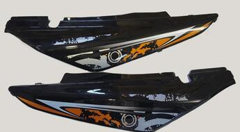 пластик боковой задний (пара) Racer RC200GY-C2, RC250GY-C2 Panther (белый, черный)