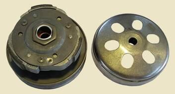 вариатор задний в сборе (сцепление центробежное в сборе) 152QMI, 157QMJ, ATV150