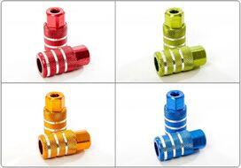 Пеги для трюкового самоката 25x50 мм, алюминиевые (4 цвета в ассортименте, FW804021)