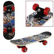 """Скейтборд RGX Small 17""""x5"""", подвеска 5 ALU, клён 9 слоёв, SMALL-7 (черный/красный)"""