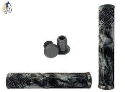 Рукоятки руля (грипсы, комплект) 166 мм, Kraton, с барендами, L-G132 (серый/черный, NN005402)