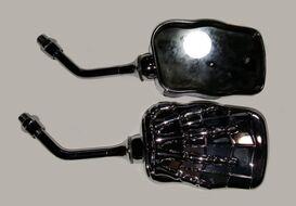 зеркала заднего вида SF033 хром рука мертвеца маленькое (8,10мм) (пара)