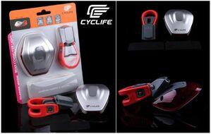 Фонарь задний CYCLIFE CL-101, 6 Super LED, 5 режимов работы, Weatherproof, блистер (УТ00019063)