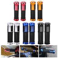 Рукоятки руля (грипсы, комплект), 130мм, с алюминиевыми наконечниками, New Vision (черный/синий)