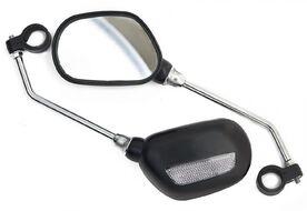 Зеркала заднего вида (комплект: правое+левое), пластик/хром