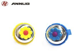 "Звонок велосипедный, ""Цветок"", алюминий/пластик, ANNUO"