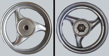 диск колесный задний 12-2.5 19 шлицов, литой, барабан 110мм