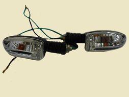 указатель поворота DELTA, ALPHA, ORION (резиновая ножка  средний белое стекло)