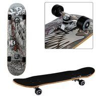 "Скейтборд RGX Display 31""x8"", подвеска 5 ALU, клён 9 слоёв, LG-306 (черный/серый)"