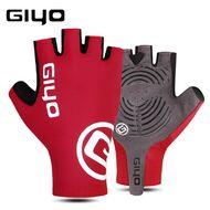 """Велоперчатки GIYO, короткий палец, гелевые вставки, биэластичные, силикон, лайкра, размер """"L"""" (красный)"""