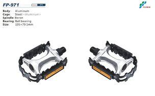 """Педали платформенные (комплект 2 шт.) 9/16"""", 105x80 мм, алюминиевые, FP-971 FEIMIN (черный, FP-971)"""