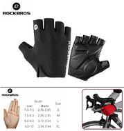 """Велоперчатки """"ROCKBROS"""", короткие пальцы, гелевые вставки, биэластичные, силикон, лайкра, размер """"M"""" (ROCKBRS06-M)"""