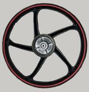 диск колесный передний литой закругленные лучи  DELTA, ALPHA
