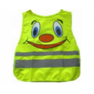 Светоотражающий защитный жилет, детский, 450х400, со смайлом (желтый, TS-C-03yellow)