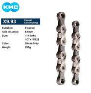 Цепь KMC (X-9) 9 скор. (114 звеньев) grey, 1/2''x11/128'', пин, OEM (KMC-X9OEM)
