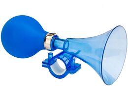 Сигнал велосипедный, клаксон (L-155mm), пневматический, пластик (синий, 4630031483006)