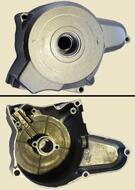 крышка двигателя левая 139FMB, 147FMH, 152FMI (верх. э/старт.) (6кат.); DELTA, ALPHA