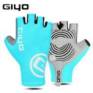 """Велоперчатки GIYO, короткий палец, гелевые вставки, биэластичные, силикон, лайкра, размер """"S"""" (бирюзовый)"""