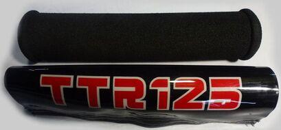 накладка руля демпфирующая поролон, чехол декоративный пластик TTR125