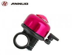 Звонок велосипедный, алюминий/пластик, D35, с хрусталиком, ANNUO, 19AZ (розовый металлик, RB319AZ00001)