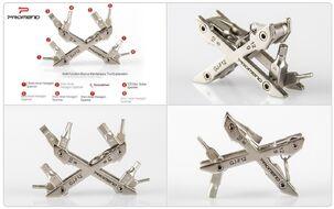 Набор инструментов X-Type, 8 предметов, ключи шестигранные, алюминиевый X-образный держатель, GJ-F12 PROMEND (УТ00019543)