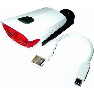 Фонарь задний, XC-122R, USB кабель, 2 светодиода, Jokie (белый, RLEXC122R001) #0