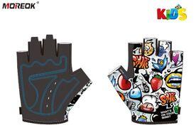 """Велоперчатки детские """"MOREOK"""", KIDS, антискользящие, биэластичные (мультиколор, MOREOK1KIDS)"""